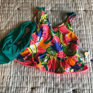 Brand new Target fruit swimsuit tanking 7/8